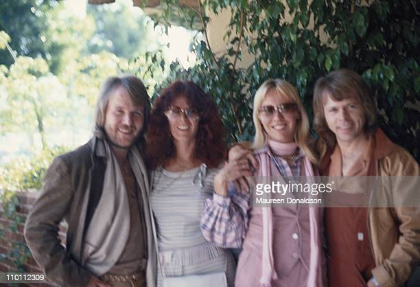 Swedish pop group ABBa circa 1975
