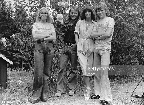 Swedish pop group ABBA From left to right Agnetha Fältskog Benny Andersson AnniFrid Lyngstad and Björn Ulvaeus Photograph by Almquist