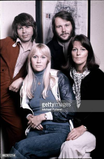 Swedish pop group Abba in Stockholm April 1976 Clockwise from top left Bjorn Ulvaeus Benny Andersson AnniFrid Lyngstad and Agnetha Faltskog