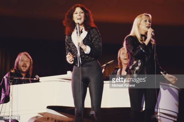 Swedish pop group Abba performing at 'The Music for UNICEF Concert: A Gift of Song' benefit concert held at the United Nations General Assembly in...