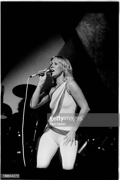 Swedish pop group Abba performs at the Auditorium Theater Chicago Illinois September 30 1979 Pictured is Agnetha Faltskog