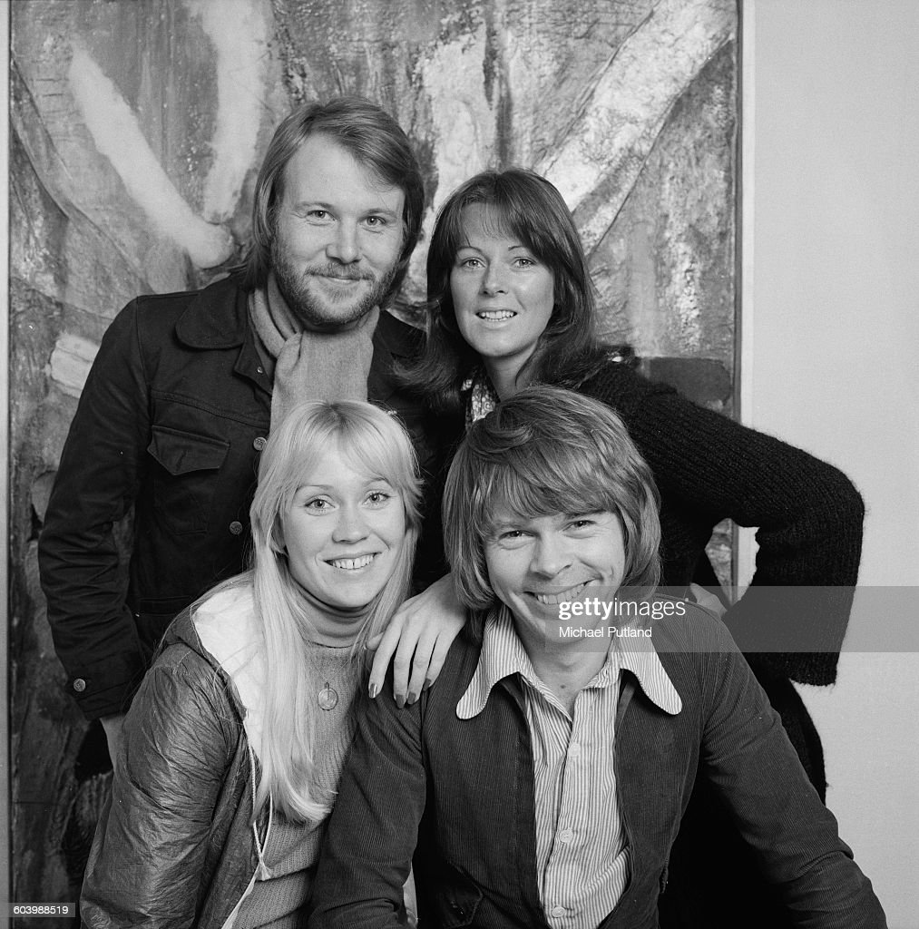 Swedish pop group, Abba, Stockholm, April 1976. Clockwise, from top left: Benny Andersson, Anni-Frid Lyngstad, Björn Ulvaeus and Agnetha Fältskog.