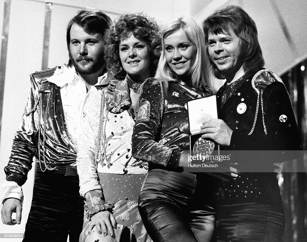 Abba Win Eurovision Song Contest : News Photo
