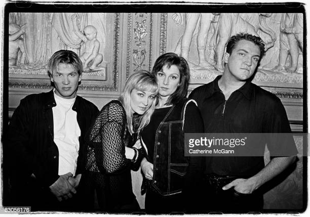 Swedish pop group Ace of Base pose for a portrait in 1994 in New York City New York