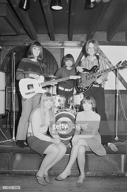 Swedish pop group Nursery Rhymes who are opening at the Cromwellian Club in London 6th December 1966 They are singer and guitarist Inger Jonsson...