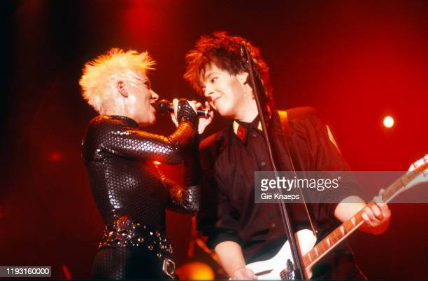Swedish Pop group Roxette performs onstage during the Join the Joyride Tour at the Rotterdam Ahoy arena Rotterdam Netherlands October 4 1991 Pictured...