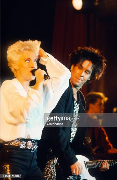Swedish Pop group Roxette performs onstage during the Look Sharp Tour at the Ancienne Belgique concert hall Brussels Belgium November 27 1989...