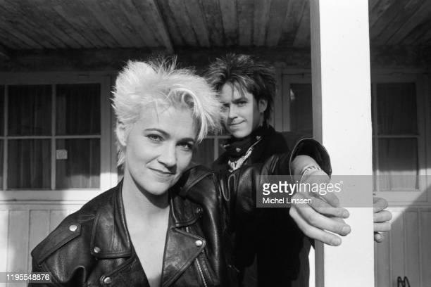 Swedish pop rock duo Roxette aka Marie Fredriksson and Per Gessle circa 1990