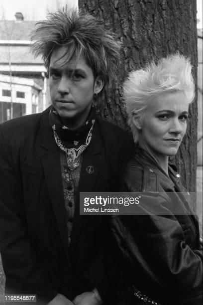 Swedish pop rock duo Roxette aka Per Gessle and Marie Fredriksson circa 1990