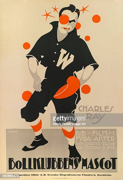 A Swedish poster for Eric Rohman for the 1917 US comedy film 'The Pinch Hitter' here titled 'Bollklubbens Mascot' The film stars actor Charles Ray as...