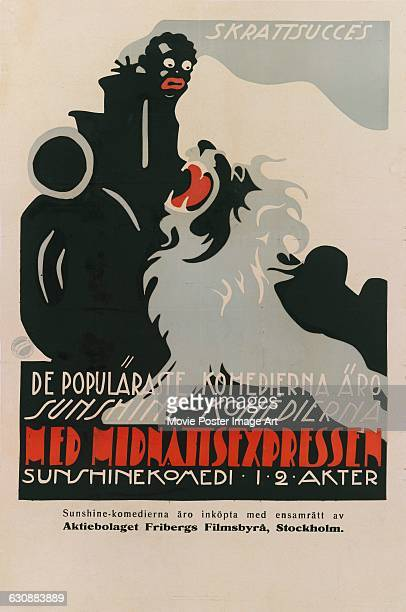 A Swedish poster for the 1918 US Sunshine comedy 'Roaring Lions on the Midnight Express' directed by Henry Lehrman