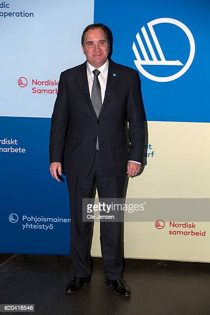Swedish Prime Minister Stefan Loefven arrives to the Nordic Council's award show for arts and environment at the DR Concert Hall in Copenhagen...