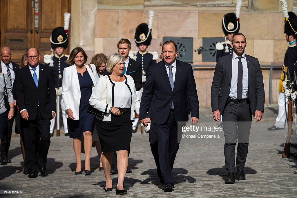 Swedish Prime Minister Stefan Lofven and wife Ulla attend a ceremony at Storkyrkan in connection with the opening session of the Swedish parliament on September 13, 2016 in Stockholm, Sweden.