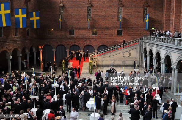 Swedish Priminister Fredrik Reinfeldt and wife Filippa Princess Victoria from Sweden fiancee Daniel Westling King Carl XVI Gustaf and Queen Silvia...