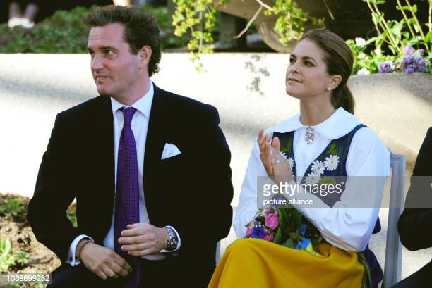 Swedish Princess Madeleine and her husbandtobe Chris O'Neill at the Swedish national day reception in Stockholm Sweden 06 June 2013 Photo Carsten...
