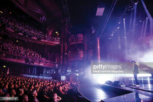 Swedish progressive metal group Opeth performing live on stage at the Palladium in London, on October 29, 2019.