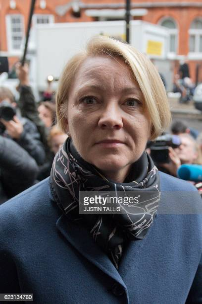 Swedish prosecutor Ingrid Isgren arrives to attend an interview with WikiLeaks founder Julian Assange at the Ecuadorian Embassy in London on November...