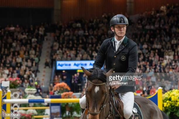 Swedish rider Peder Fredricson on HM Christian K competes in the FEI World Cup Jumping event during the Gothenburg Horse Show at Scandinavium Arena...