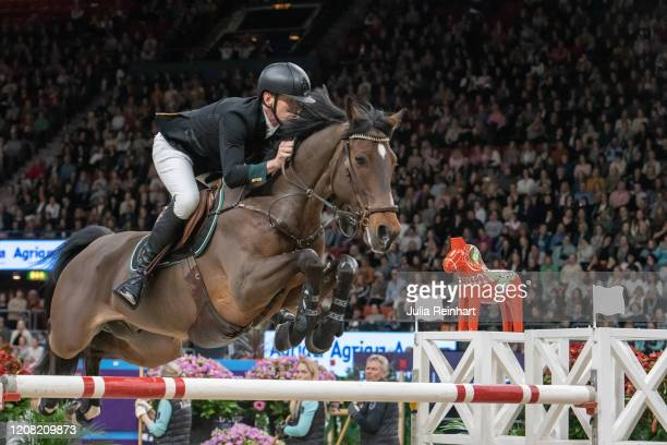 Swedish rider Peder Fredricson on H&M Christian K competes in the FEI World Cup Jumping event during the Gothenburg Horse Show at Scandinavium Arena...