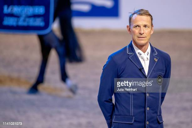 Swedish rider Peder Fredricson places third in the Longines FEI Jumping World Cup Final during the Gothenburg Horse Show 2019 at Scandinavium Arena...
