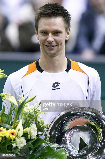 Swedish Robin Soderling wins of Russian Mikhail Joezjni during the finals of the ABN Amro World Tennis Tournament in Rotterdam on February 14 2010...