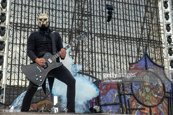Swedish rock band Ghost performs as an opening act for