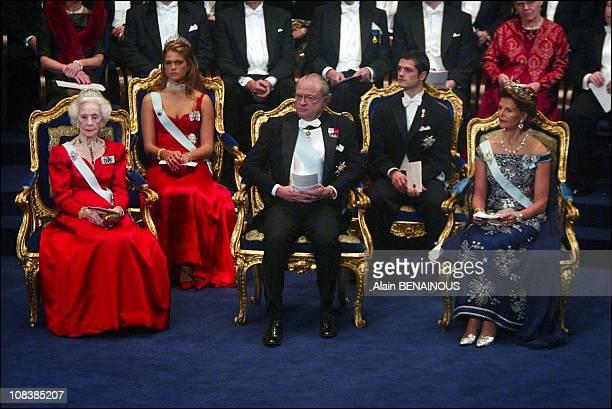 Swedish royal family: King Carl Gustav, Queen Silvia, Princess Madeleine, Prince Karl Philip and Princess Lilian in Stockholm, Sweden on December 10,...