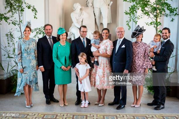 Swedish Royal family Princess Madeleine Christopher O'Neill Queen Silvia Prince Daniel Princess Estelle Prince Oscar Crown Princess Victoria King...