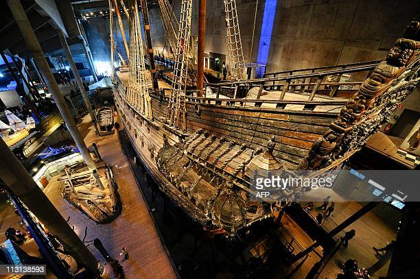 Swedish Royal warship Vasa on show at a museum in Stockholm on 24 April 2011. Half a century has passed since the sunken 17th century royal warship...