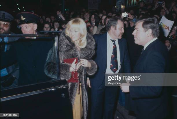 Swedish singer Agnetha Fältskog of ABBA attends the premiere of the documentary film 'ABBA The Movie' at the Odeon Leicester Square London 16th...