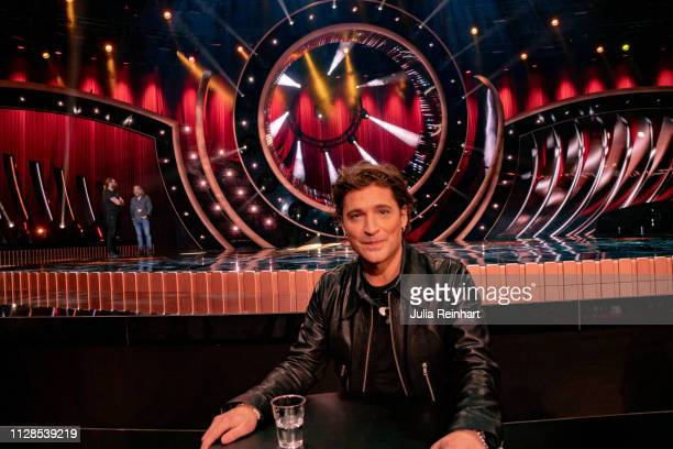 Swedish singer and former soccer player Anders Johnson advances to the semifinal in the second heat of Melodifestivalen Sweden's competition to...
