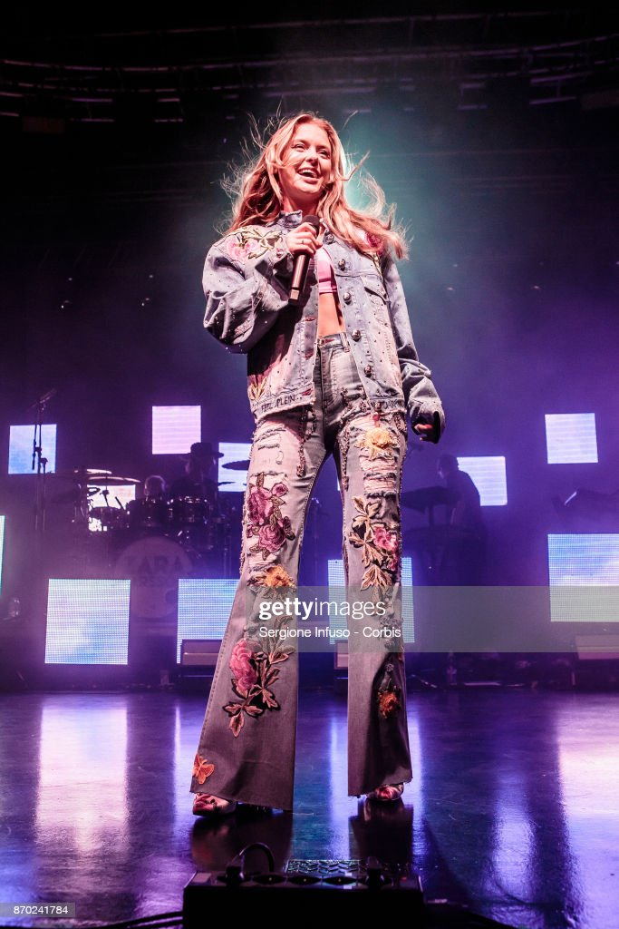 Swedish singer and songwriter Zara Larsson performs on stage on November 4, 2017 in Milan, Italy.