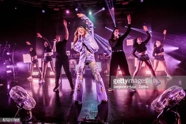 Swedish singer and songwriter Zara Larsson performs on stage on November 4 2017 in Milan Italy