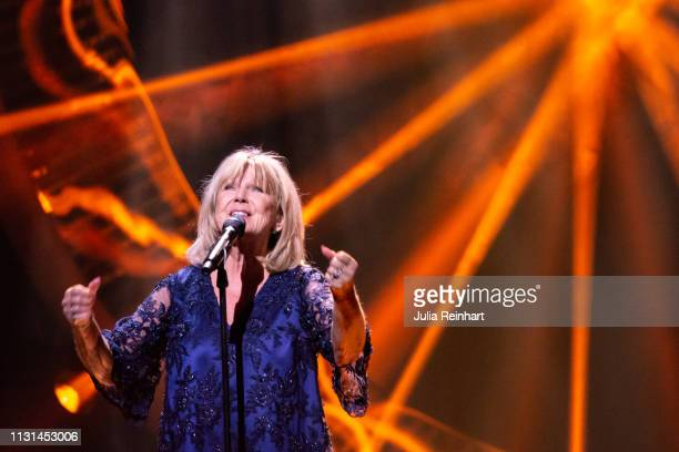 Swedish singer AnnLouise Hanson participates in the fourth heat of Melodifestivalen Sweden's competition to select the country's representative at...