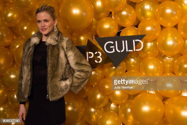 Swedish singer Ida Redig arrives at the P3 Guld Gala Swedish Radio's celebration of the best in Swedish Music on January 20 2018 at Partille Hallen...