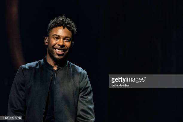 Swedish singer John Lundvik participates in the fourth heat of Melodifestivalen Sweden's competition to select the country's representative at the...