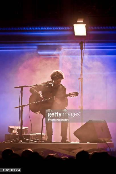 Swedish singer Jose Gonzalez performs live on stage during a concert at the Konzerthaus on September 3 2019 in Berlin Germany