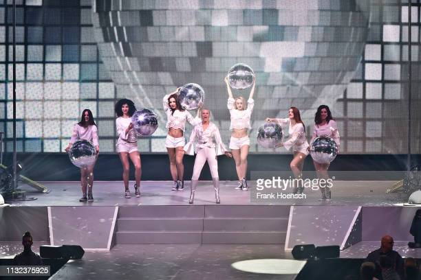 Swedish singer Julia Lindholm performs live onstage during a concert at the MercedesBenz Arena on March 23 2019 in Berlin Germany