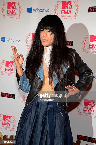 Swedish singer Loreen attends the MTV EMA's 2012 at Festhalle Frankfurt on November 11 2012 in Frankfurt am Main Germany