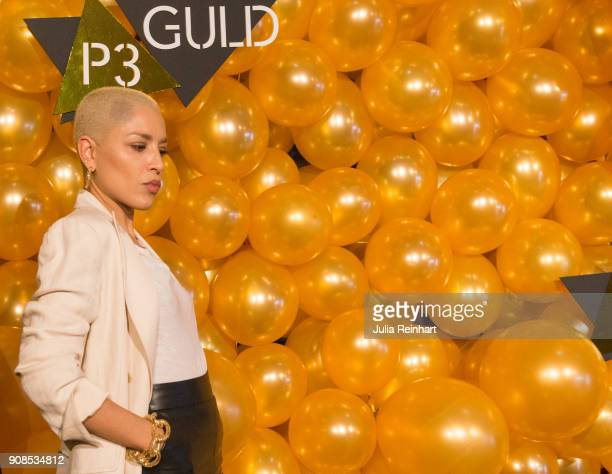 Swedish singer Loreen winner of the 2012 European Song Contest arrives at the P3 Guld Gala Swedish Radio's celebration of the best in Swedish Music...