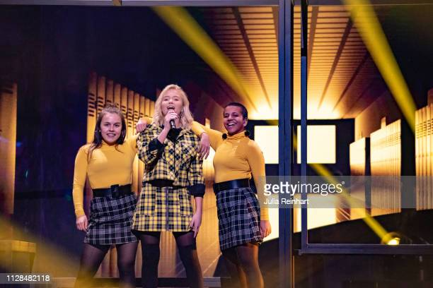Swedish singer Malou Prytz participates in the second heat of Melodifestivalen Sweden's competition to select the country's representative at the...