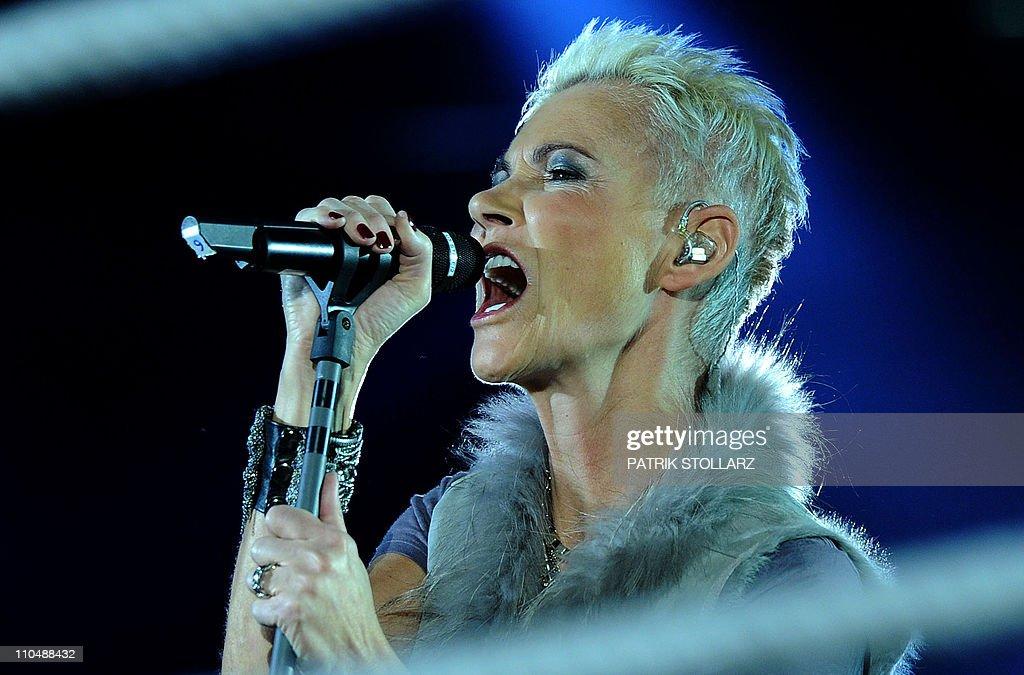 Swedish singer Marie Fredriksson of  pop : News Photo