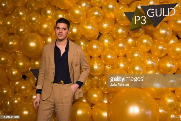 Swedish singer Oscar Zia arrives at the P3 Guld Gala Swedish Radio's celebration of the best in Swedish Music on January 20 2018 at Partille Hallen...