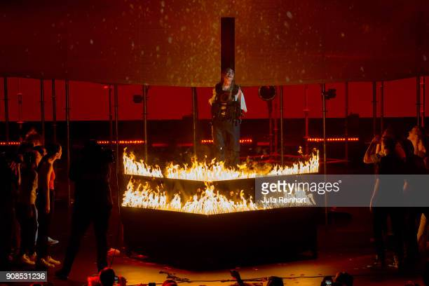 Swedish singer Silviana Imam performs at the P3 Guld Gala Swedish Radio's celebration of the best in Swedish Music on January 20 2018 at Partille...