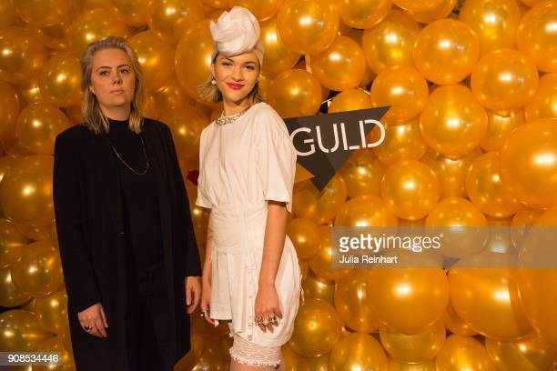 Swedish singer Tove Styrke and a friend arrive at the P3 Guld Gala Swedish Radio's celebration of the best in Swedish Music on January 20 2018 at...