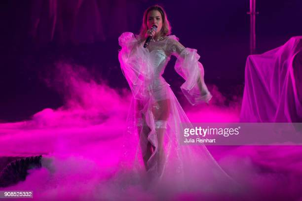 Swedish singer Tove Styrke winner of the Pop Artist of the Year award performs at the P3 Guld Gala Swedish Radio's celebration of the best in Swedish...