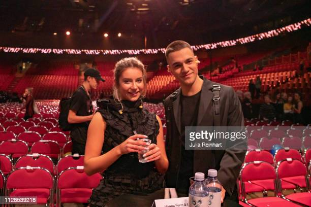 Swedish singers Liamoo and Hanna Ferm advance to the final in the second heat of Melodifestivalen Sweden's competition to select the country's...