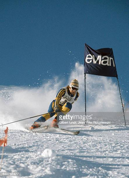 Swedish skier Ingemar Stenmark during a giant slalom
