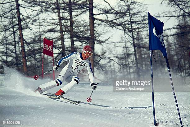 Swedish skier Ingemar Stenmark during a World Cup Giant Slalom