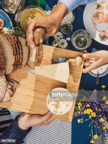 Swedish summer Midsommar Midsummer celebration dinner party